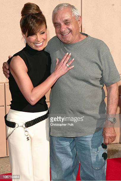 Paula Abdul and father Harry during The Academy of Television Arts Sciences Activities Committee Presents American Idol Live Arrivals at ATAS'...
