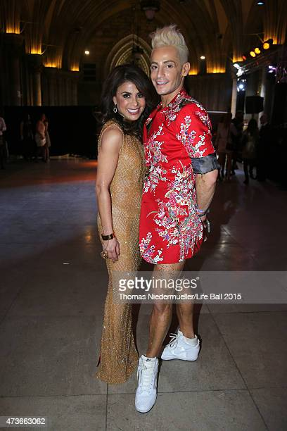 Paula Abdul and Frankie Grande attend the Life Ball 2015 after show party at City Hall on May 16 2015 in Vienna Austria