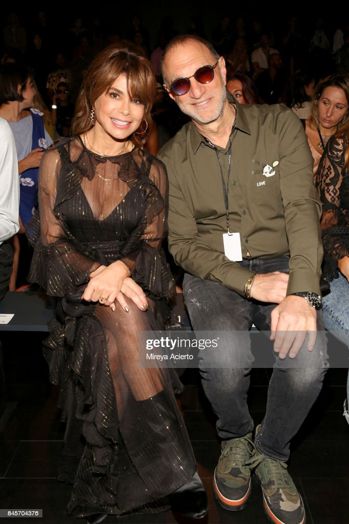 Paula Abdul and guest attend the John Paul Ataker fashion show during New York Fashion Week: The Shows at Gallery 1, Skylight Clarkson Sq on September 11, 2017 in New York City.