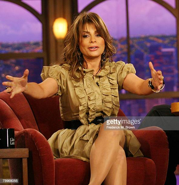 Paula Abdul and host Craig Ferguson speak during a segment of The Late Late Show with Craig Ferguson at CBS Television City on April 24 2007 in Los...