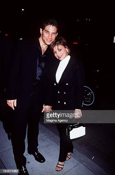 Paula Abdul and husband Brad Beckerman during Cartier Jewlry Show at Beverly Hills in Beverly Hills CA United States