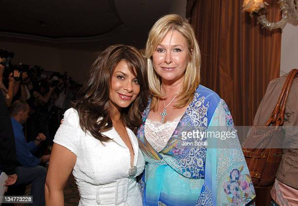 Paula Abdul and Kathy Hilton during 3rd Annual Hollywood Bag Ladies Lupus Luncheon at Beverly Hills Hotel in Beverly Hills California United States