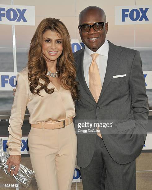 Paula Abdul and LA Reid attend the 2011 Fox All Star Party during the 2011 Fox Networks Summer TCA Press Tour at Gladstones on August 5 2011 in...