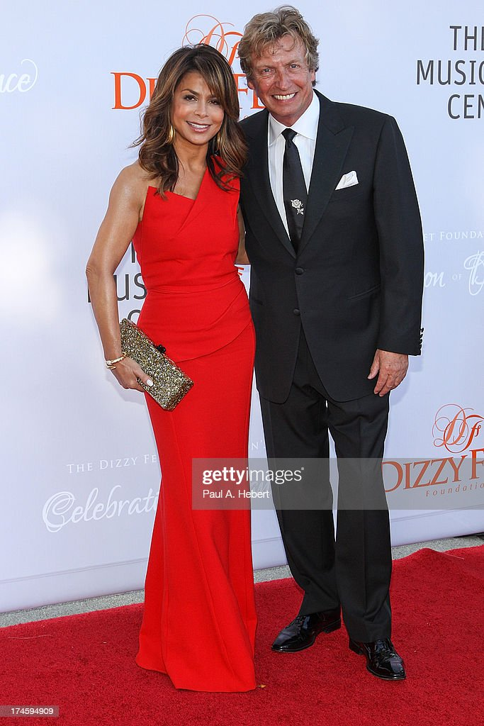 Paula Abdul (L) and Nigel Lythgoe attend the 3rd Annual Dizzy Feet Foundation's Celebration Of Dance Gala at Dorothy Chandler Pavilion on July 27, 2013 in Los Angeles, California.