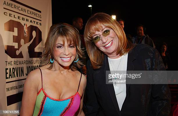 Paula Abdul and Penny Marshall arriving at the Official TipOff to NBA AllStar 2004 Entertainment American Express Celebrates the Rewarding Life of...