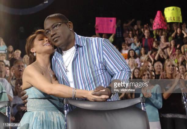 Paula Abdul and Randy Jackson judges during 'American Idol' Season 4 Results Show May 4 2005 at American Idol Studio in Los Angeles California United...