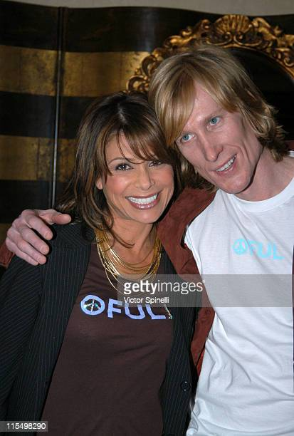 Paula Abdul and Scotte Woodward during Kwiat Diamond Gold Avenue Suite at Le Meridien at Le Meridian Hotel in Beverly Hills California United States