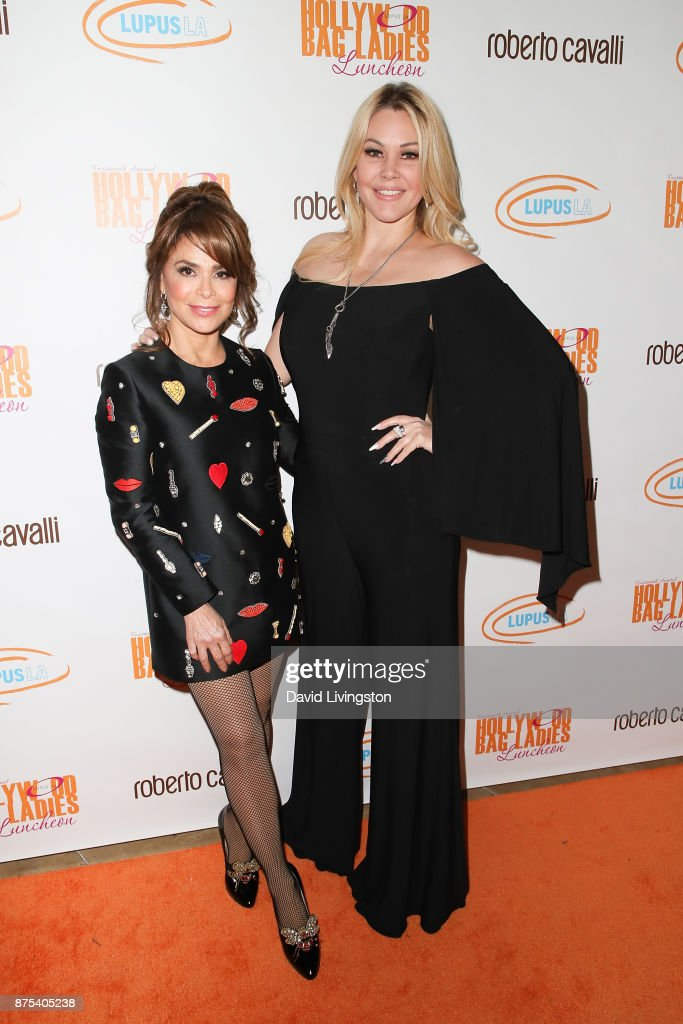 Paula Abdul and Shanna Moakler arrive at the Lupus LA 15th Annual Hollywood Bag Ladies Luncheon at The Beverly Hilton Hotel on November 17, 2017 in Beverly Hills, California.