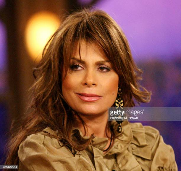Paula Abdul appears during a segment of The Late Late Show with Craig Ferguson at CBS Television City on April 24 2007 in Los Angeles California