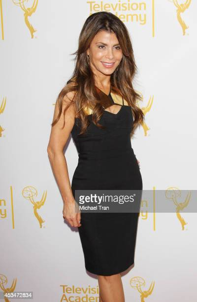 Paula Abdul arrives at Television Academy's Directors Peer Group choreographers celebration held at Leonard H Goldenson Theatre on August 10 2014 in...