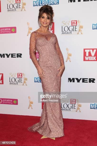 Paula Abdul arrives at the 2014 Logie Awards at Crown Palladium on April 27 2014 in Melbourne Australia