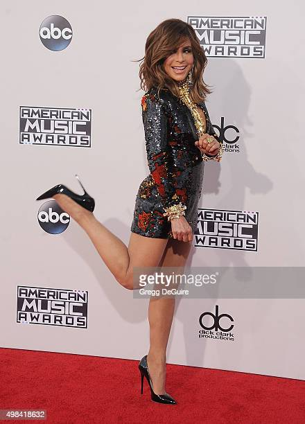 Paula Abdul arrives at the 2015 American Music Awards at Microsoft Theater on November 22 2015 in Los Angeles California