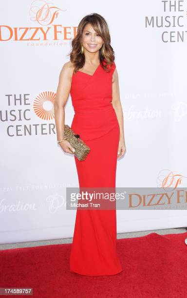 Paula Abdul arrives at the Dizzy Feet Foundation's 3rd Annual Celebration of Dance Gala held at Dorothy Chandler Pavilion on July 27 2013 in Los...