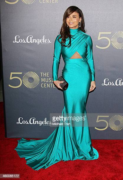 Paula Abdul arrives at The Music Center's 50th Anniversary Spectacular held at Dorothy Chandler Pavilion on December 6 2014 in Los Angeles California