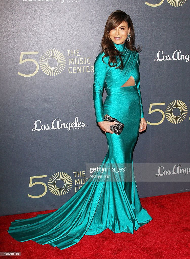 Paula Abdul arrives at The Music Center's 50th Anniversary Spectacular held at Dorothy Chandler Pavilion on December 6, 2014 in Los Angeles, California.