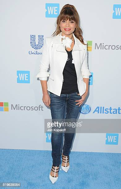 Paula Abdul arrives at WE Day California at The Forum on April 7 2016 in Inglewood California