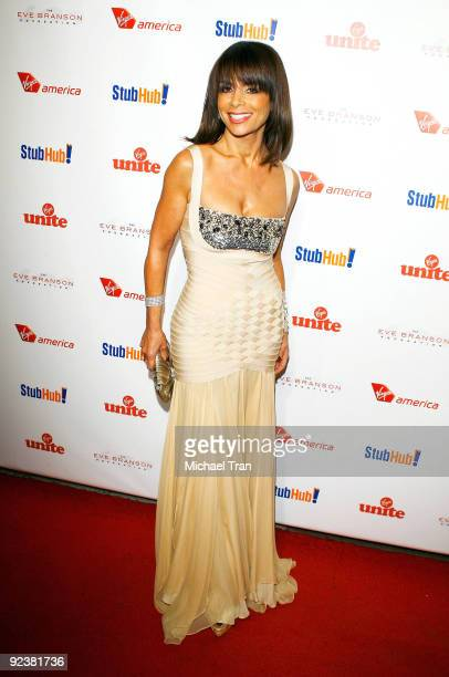 """Paula Abdul arrives to the 3rd Annual """"Rock The Kasbah"""" fundraising gala held at Vibiana on October 26, 2009 in Los Angeles, California."""