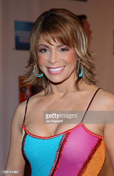 Paula Abdul arriving at the Official TipOff to NBA AllStar 2004 Entertainment American Express Celebrates the Rewarding Life of Earvin Magic Johnson...