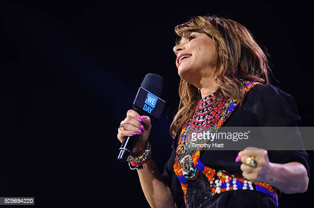 Paula Abdul attends at WeDay in Illinois at Allstate Arena on April 28 2016 in Chicago Illinois