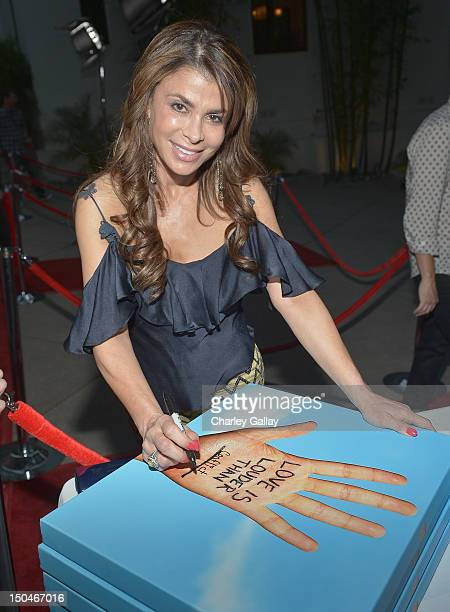 Paula Abdul attends Chaz Dean's Birthday Party Benefiting Love Is Louder at a private residence on August 18 2012 in Los Angeles California