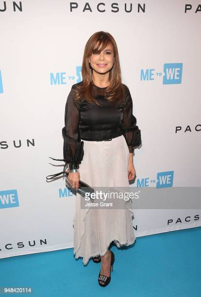 Paula Abdul attends Party with a Purpose the Official PreParty to WE Day California at The Peppermint Club on April 18 2018 in Los Angeles California