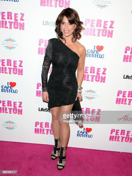 Paula Abdul attends Perez Hilton's 'CarnEvil' 32nd birthday party at Paramount Studios on March 27 2010 in Los Angeles California