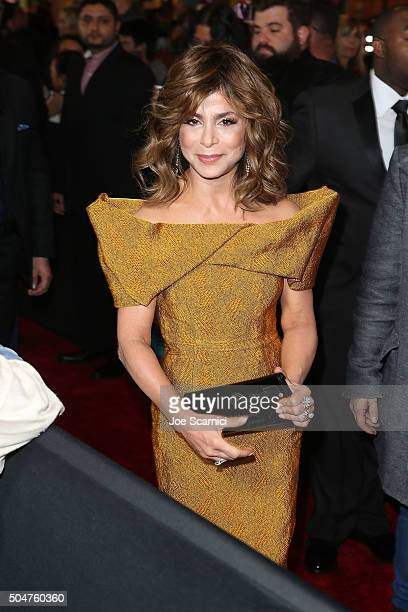 Paula Abdul attends Qatar Airways Los Angeles Gala at Dolby Theatre on January 12 2016 in Hollywood California