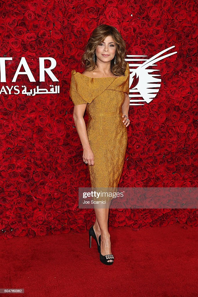 Paula Abdul attends Qatar Airways Los Angeles Gala at Dolby Theatre on January 12, 2016 in Hollywood, California.