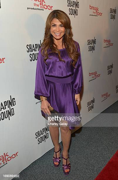 Paula Abdul attends Shaping Sound Dance Company's First National Tour Launch at the El Portal Theater on May 19 2013 in North Hollywood California