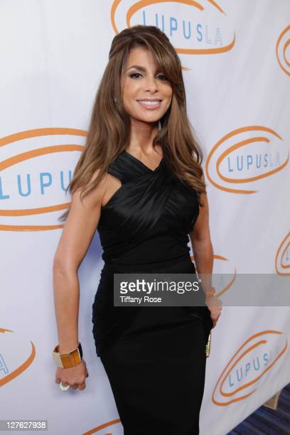 Paula Abdul attends the 11th Annual Lupus Los Angeles Orange Bowl Arrivals at the Beverly Wilshire Four Seasons Hotel on May 12 2011 in Beverly Hills...