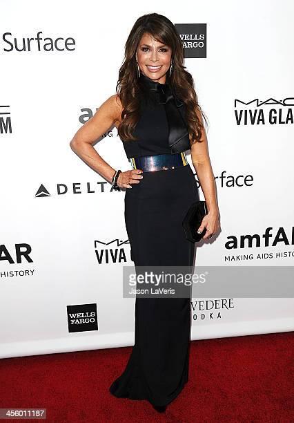 Paula Abdul attends the amfAR Inspiration Gala at Milk Studios on December 12 2013 in Hollywood California