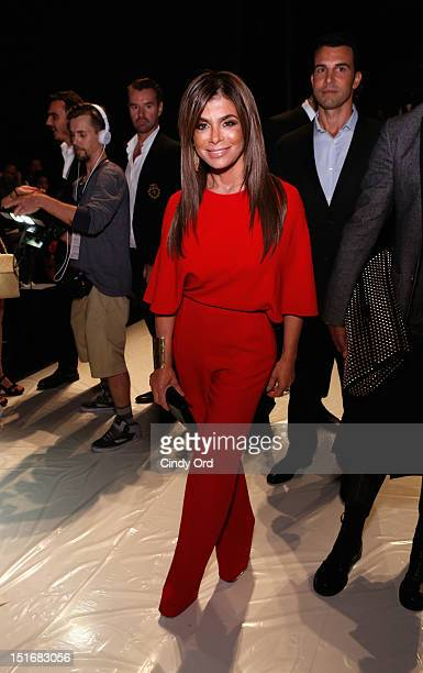 Paula Abdul attends the Chado Ralph Rucci Spring 2013 fashion show during MercedesBenz Fashion Week at The Theatre Lincoln Center on September 9 2012...