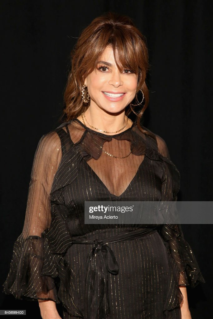 Paula Abdul attends the John Paul Ataker fashion show during New York Fashion Week: The Shows at Gallery 1, Skylight Clarkson Sq on September 11, 2017 in New York City.