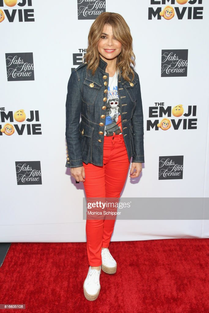 Paula Abdul attends the Saks Fifth Avenue and Sony Picture Animation's celebration of 'The Emoji Movie' at Saks Fifth Avenue on July 17, 2017 in New York City.