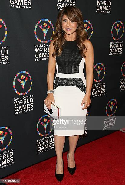 Paula Abdul attends the Special Olympics celebrity dance challenge at Wallis Annenberg Center for the Performing Arts on July 31 2015 in Beverly...
