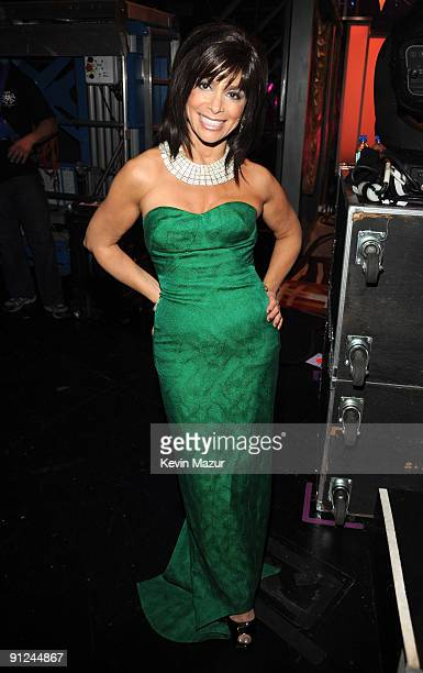 Paula Abdul backstage at Brooklyn Academy of Music on September 17 2009 in New York New York