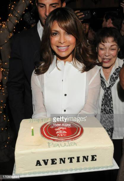 Paula Abdul celebrates her birthday at Aventine Hollywood on June 19 2013 in Hollywood California