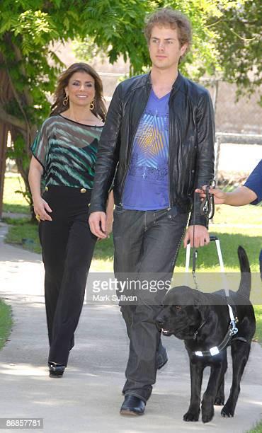 Paula Abdul donates a Guide Dog to blind American Idol contestant Scott MacIntyre and kicksoff National Guide Dog Month at Guide Dogs Of America on...