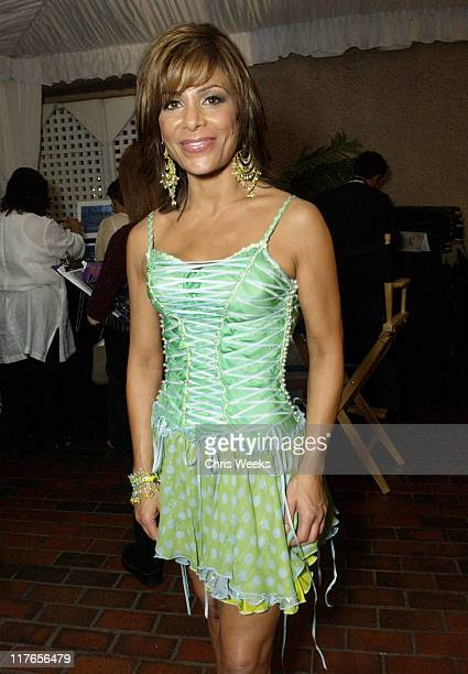 Paula Abdul during 2003 Teen Choice Awards Backstage Creations Day of Show at Universal Amphitheatre in Universal City California United States