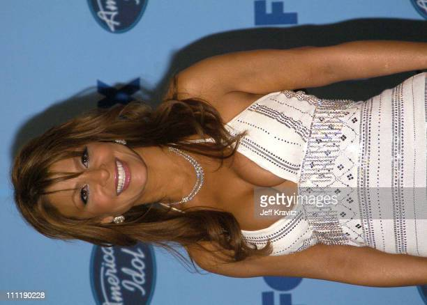 Paula Abdul during 'American Idol' Season 3 Finale Arrivals and Press Room at Kodak Theatre in Hollywood California United States