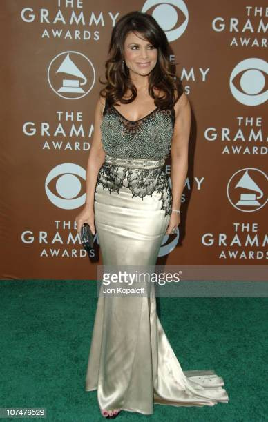 Paula Abdul during The 48th Annual GRAMMY Awards Arrivals at Staples Center in Los Angeles California United States