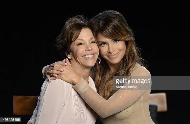 Paula Abdul films a music video for the Avon Foundation for Women #CheckYourself for Breast Cancer campaign at Quixote Studios on September 5 2014 in...