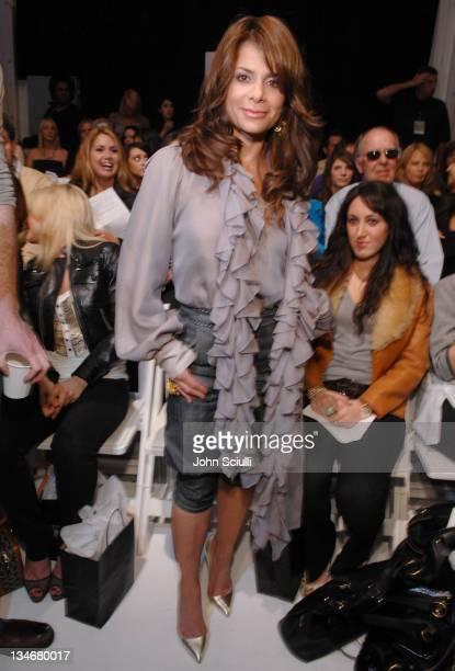 Paula Abdul front row at Thrive Fall 2007 during Mercedes-Benz Fall 2007 L.A. Fashion Week at Smashbox Studios - Thrive - Backstage and Front Row at...