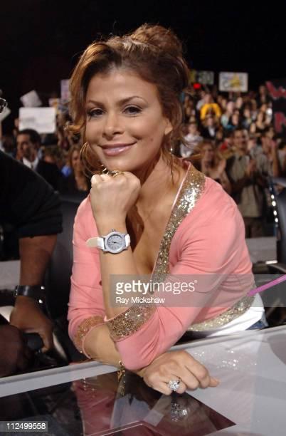 "Paula Abdul, judge during ""American Idol"" Season 4 - Results Show - April 27, 2005 at American Idol Studios in Los Angeles, California, United States."