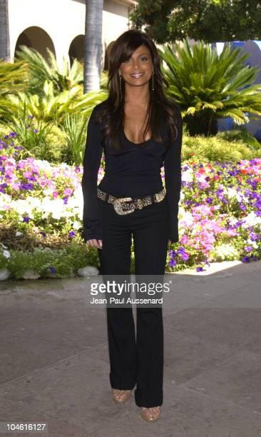Paula Abdul judge on American Idol during Fox Broadcasting Summer 2002 Press Tour Day 2 at Ritz Carlton Hotel in Pasadena California United States