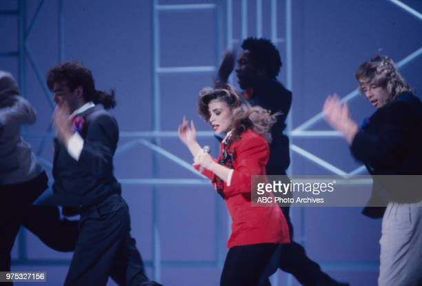 Paula Abdul performing on the 17th Annual American Music Awards Shrine Auditorium January 22 1990