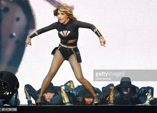 Paula Abdul performs during The Total Package Tour at Infinite Energy Arena on July 14 2017 in Duluth Georgia