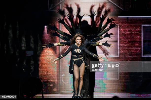 Paula Abdul performs during 'The Total Package Tour' at KeyArena on June 7 2017 in Seattle Washington