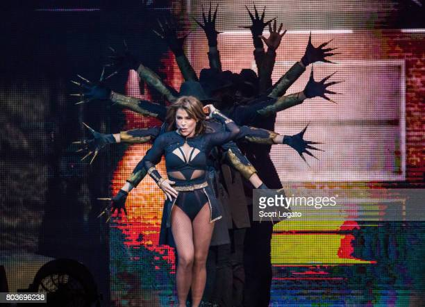 Paula Abdul performs in support of The Total Package Tour at The Palace of Auburn Hills on June 29 2017 in Auburn Hills Michigan