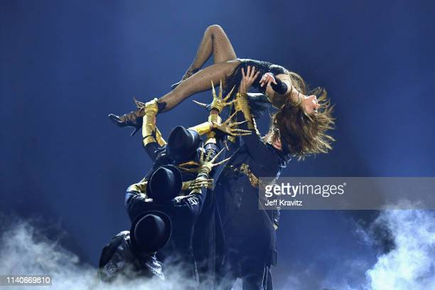 Paula Abdul performs onstage during the 2019 Billboard Music Awards at MGM Grand Garden Arena on May 1 2019 in Las Vegas Nevada